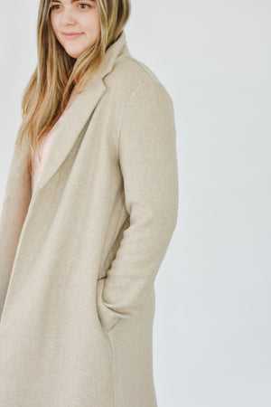 Blazer Coat- Oatmeal