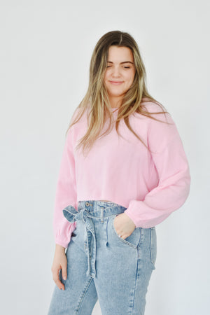 Cropped Bubblegum Knit