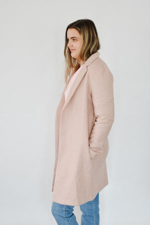 Blazer Coat- Rose