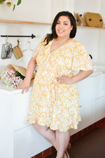 Sunshine Yellow Wrap Dress |XS-3XL|