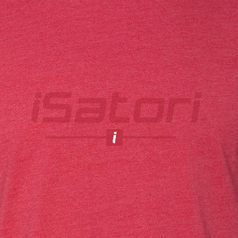 iSatori Tonal Logo Workout T-Shirt, Close Up