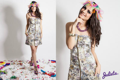 Vestido Jumper Strapless Blanco multi color