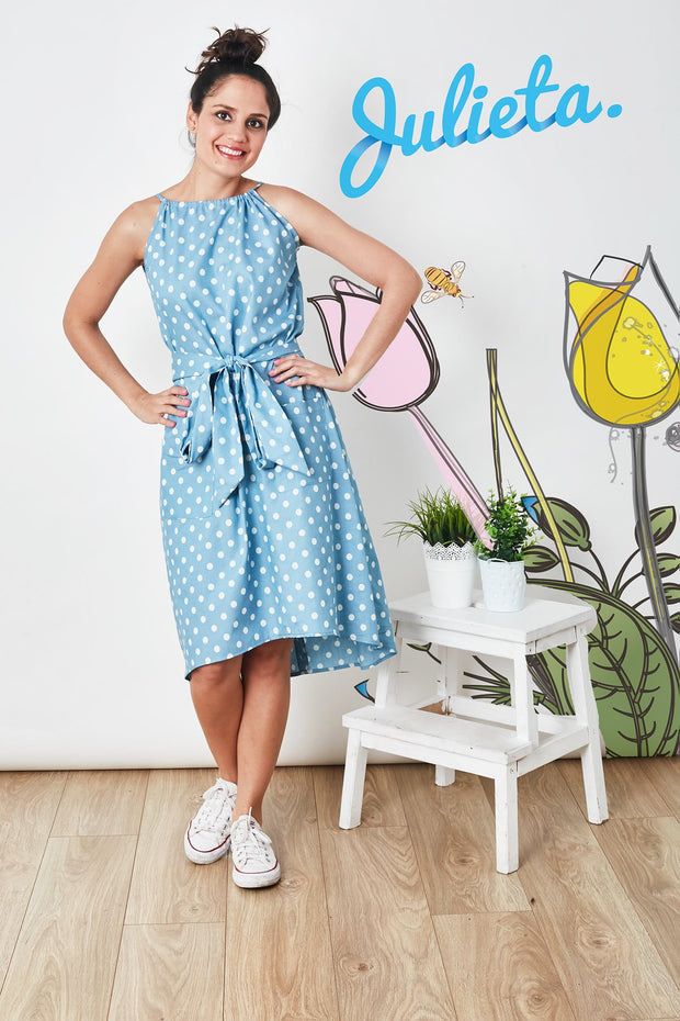 Vestido PC Chambray Dots