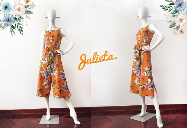 Enterizo Midi Mostaza Julieta Shop