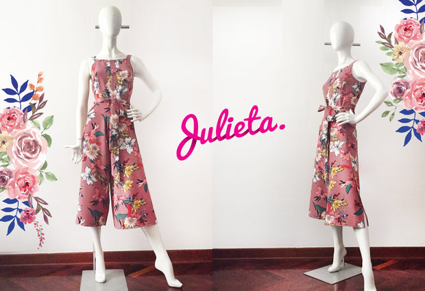 Enterizo Midi Rosa Julieta Shop