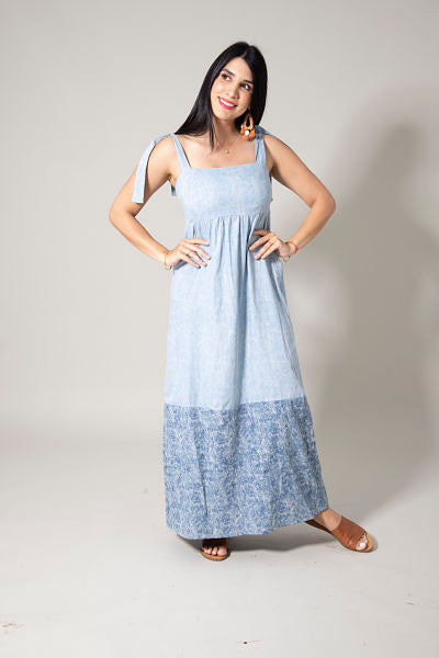 Vestido E. Denim Chambray