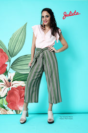 Pantalón Palazo Midi Stripes Julieta Shop