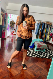 Cool T-Shirt Batik Camel