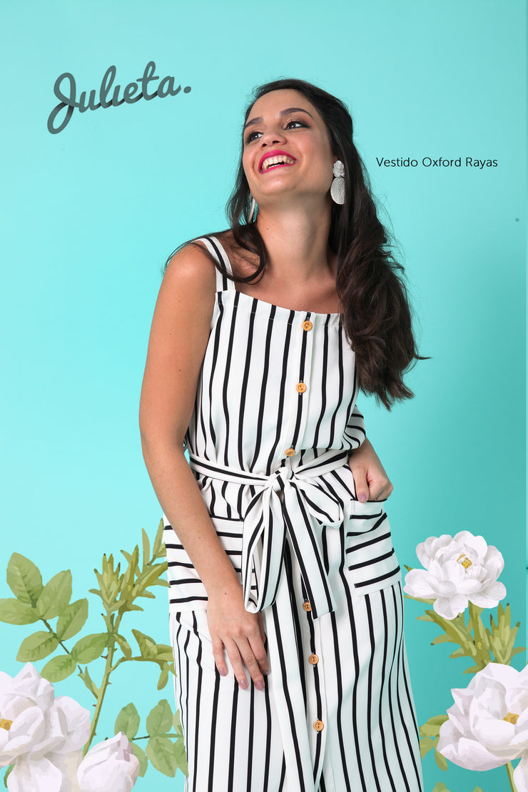 Vestido Oxford Rayado Julieta Shop