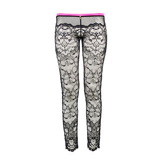 Raissa Leggings ouvert - black/pink