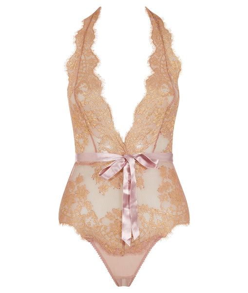 IANA - Playsuit/Body - TAUBE/GOLD