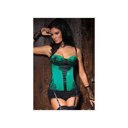 Korzet Coquette - Green/Black