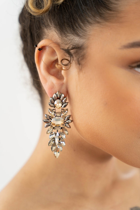 statement gold earrings