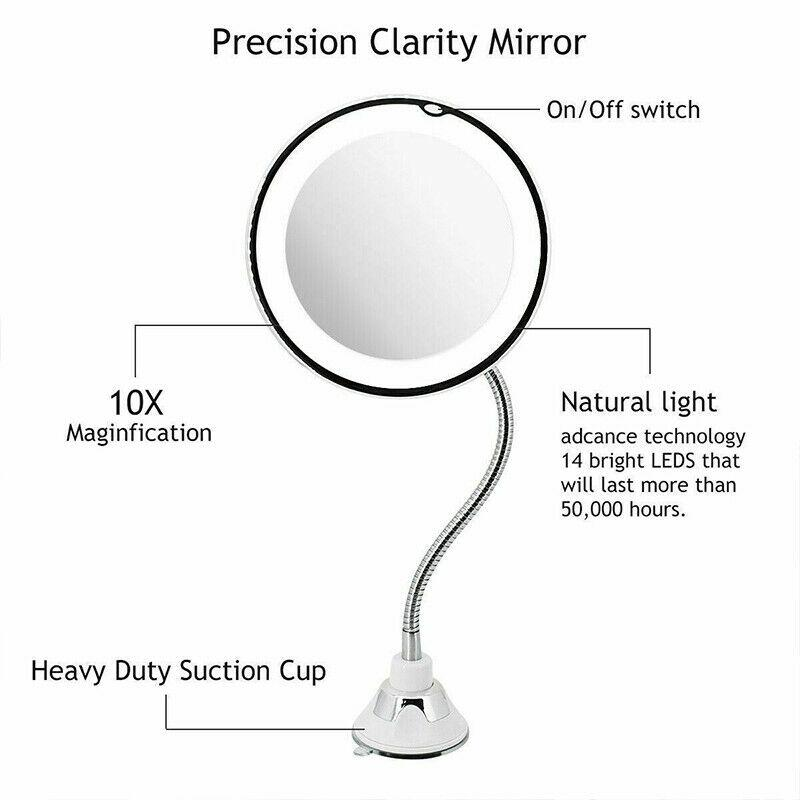 Flexible Magnify 10X Vanity Mirror - Urban Chase