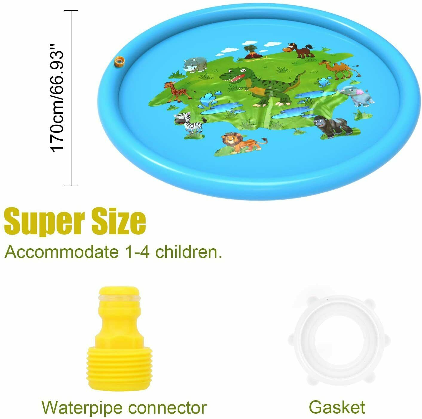 Water Sprinkler Fun Mat - Urban Chase