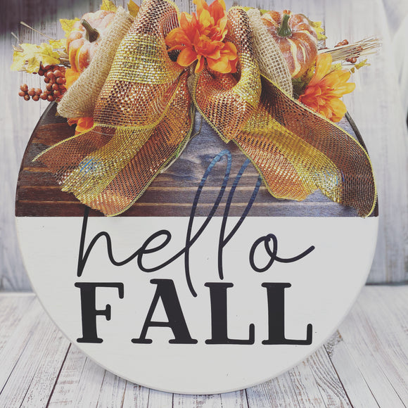 Fall door Signs