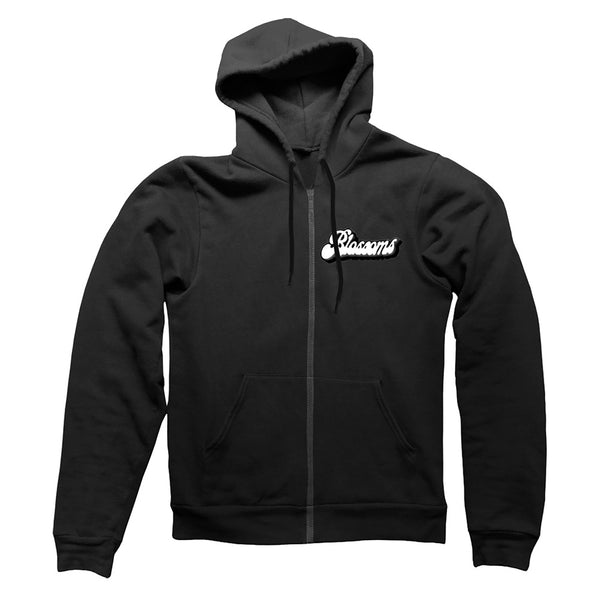 WAVE BLACK ZIP HOODY