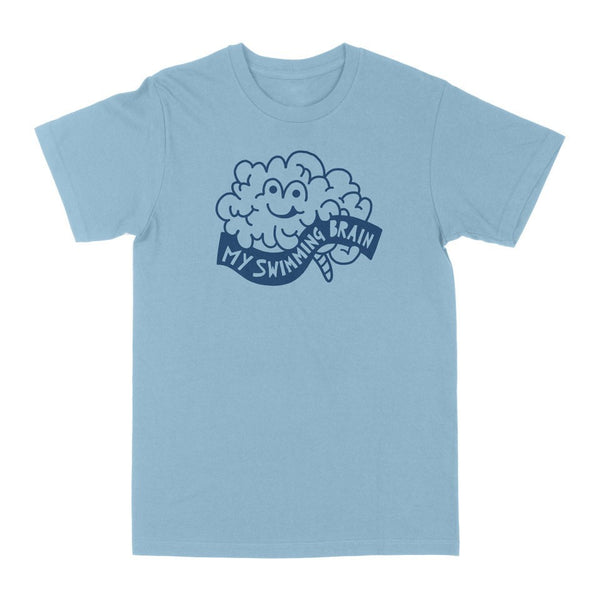 MY SWIMMING BRAIN BLUE T-SHIRT