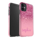 Personalised Shock Proof Glitter Effect Phone Case