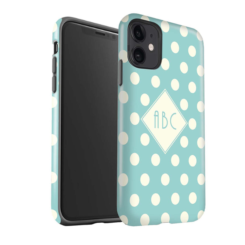 Personalised Shock Proof Polka Dot Phone Case