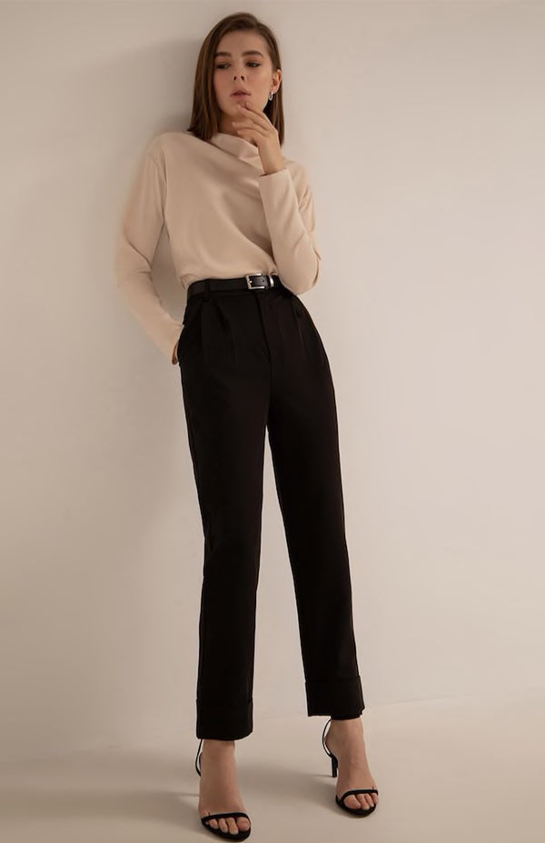Belted Dress Pant - Euphoros Collective