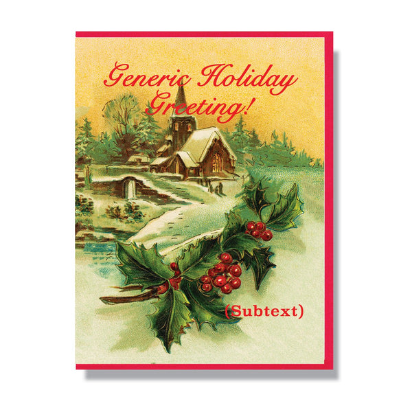 Generic Holiday Greeting Card