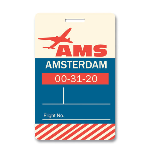 Amsterdam Luggage Tag