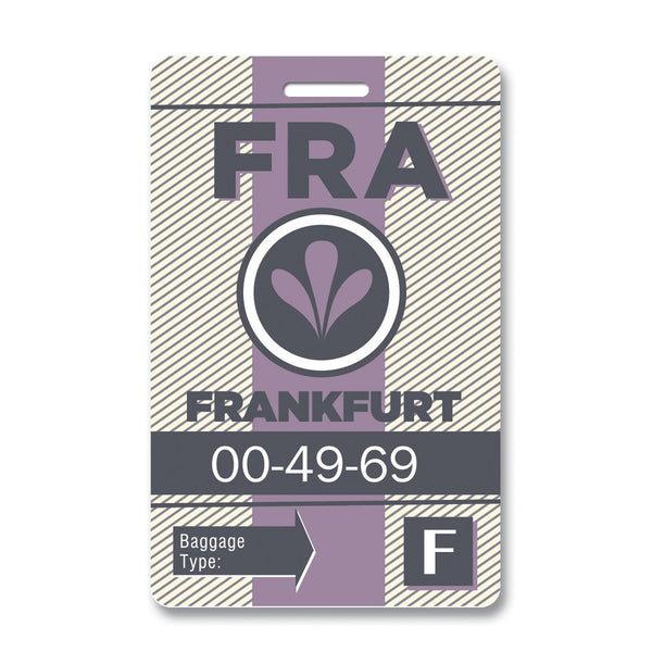 Frankfurt Luggage Tag
