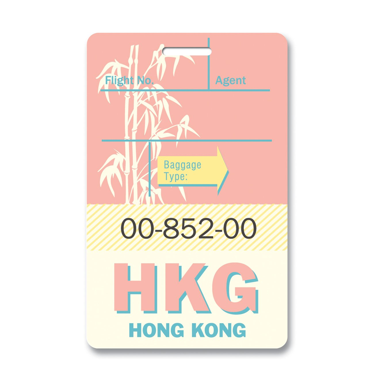Hong Kong Luggage Tag