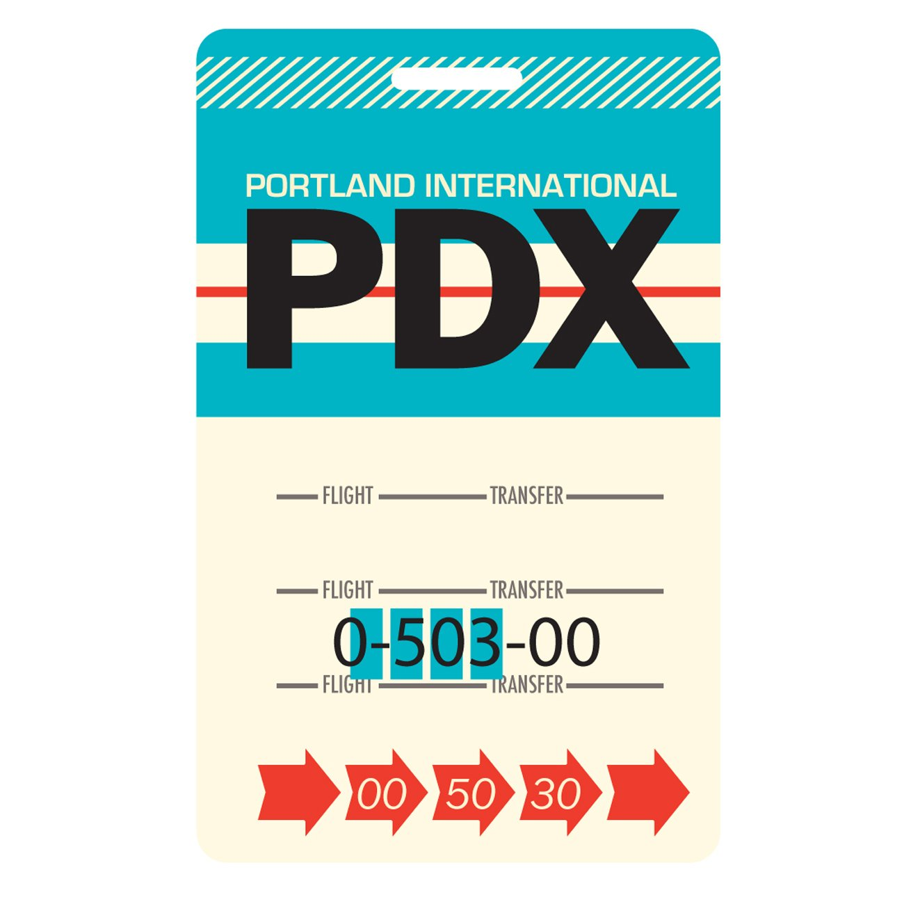 Portland Luggage Tag