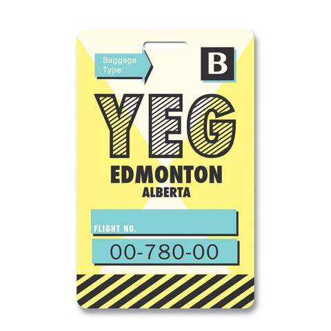 Edmonton Luggage Tag