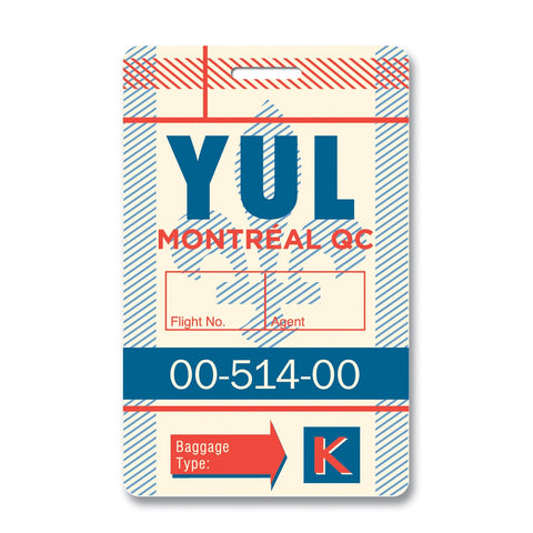 Montreal Luggage Tag