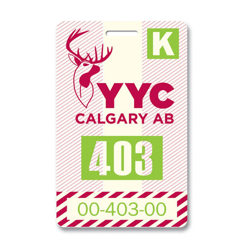 Calgary Luggage Tag