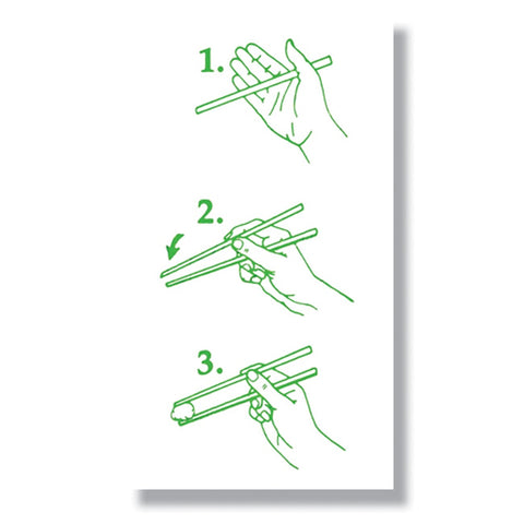 Chopsticks Mini Enclosure Card (set of 3)