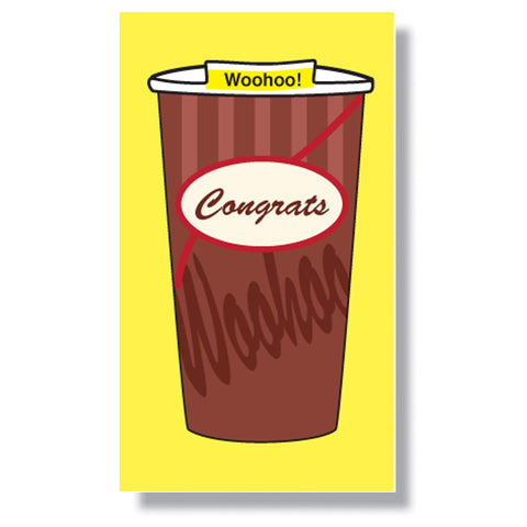 Congrats Cup Mini Enclosure Card (set of 3)