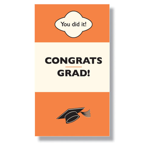 Congrats Grad Mini Enclosure Card (set of 3)