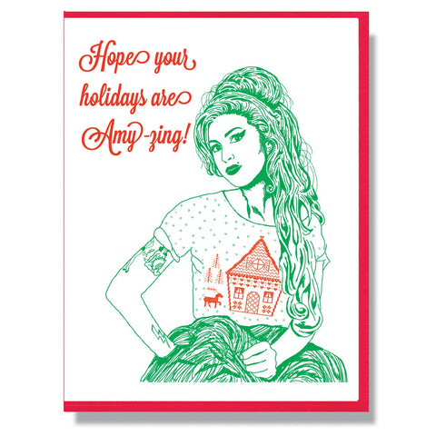 RIP Amy Winehouse Christmas Card