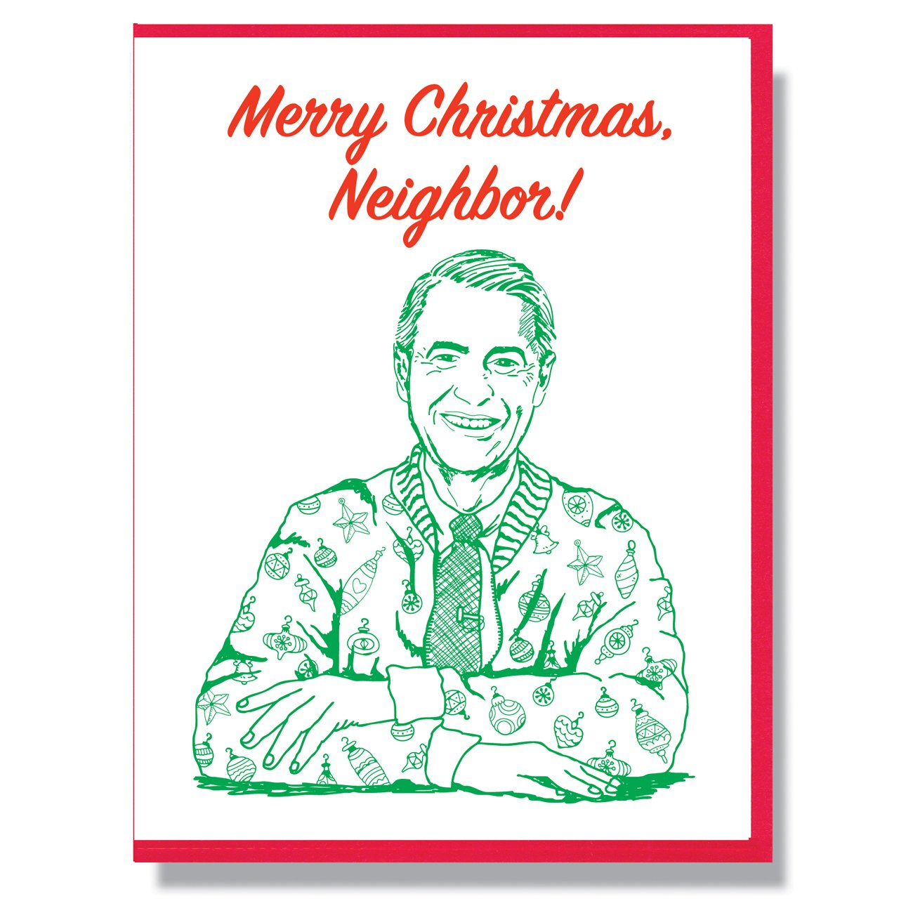 RIP Fred Rogers Christmas Card