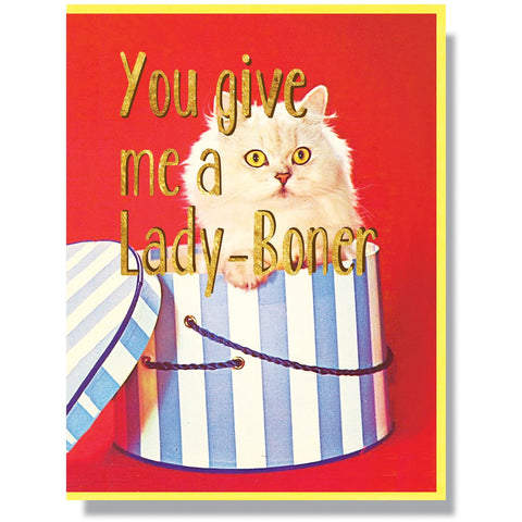 You Give Me A Lady Boner Card