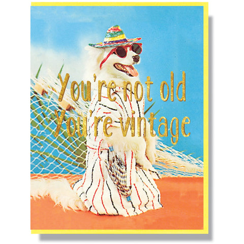 You're Not Old You're Vintage Card