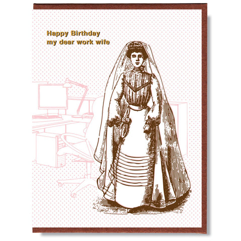 Birthday Work Wife Card