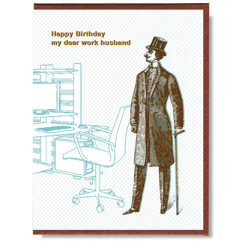 Birthday Work Husband Card