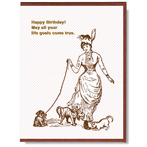 Happy Birthday Goals Card