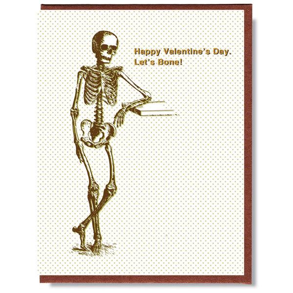 Let's Bone Valentines Card