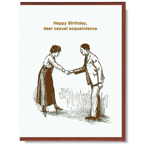 Birthday Casual Acquaintance Card