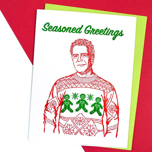 RIP Anthony Bourdain Christmas Card
