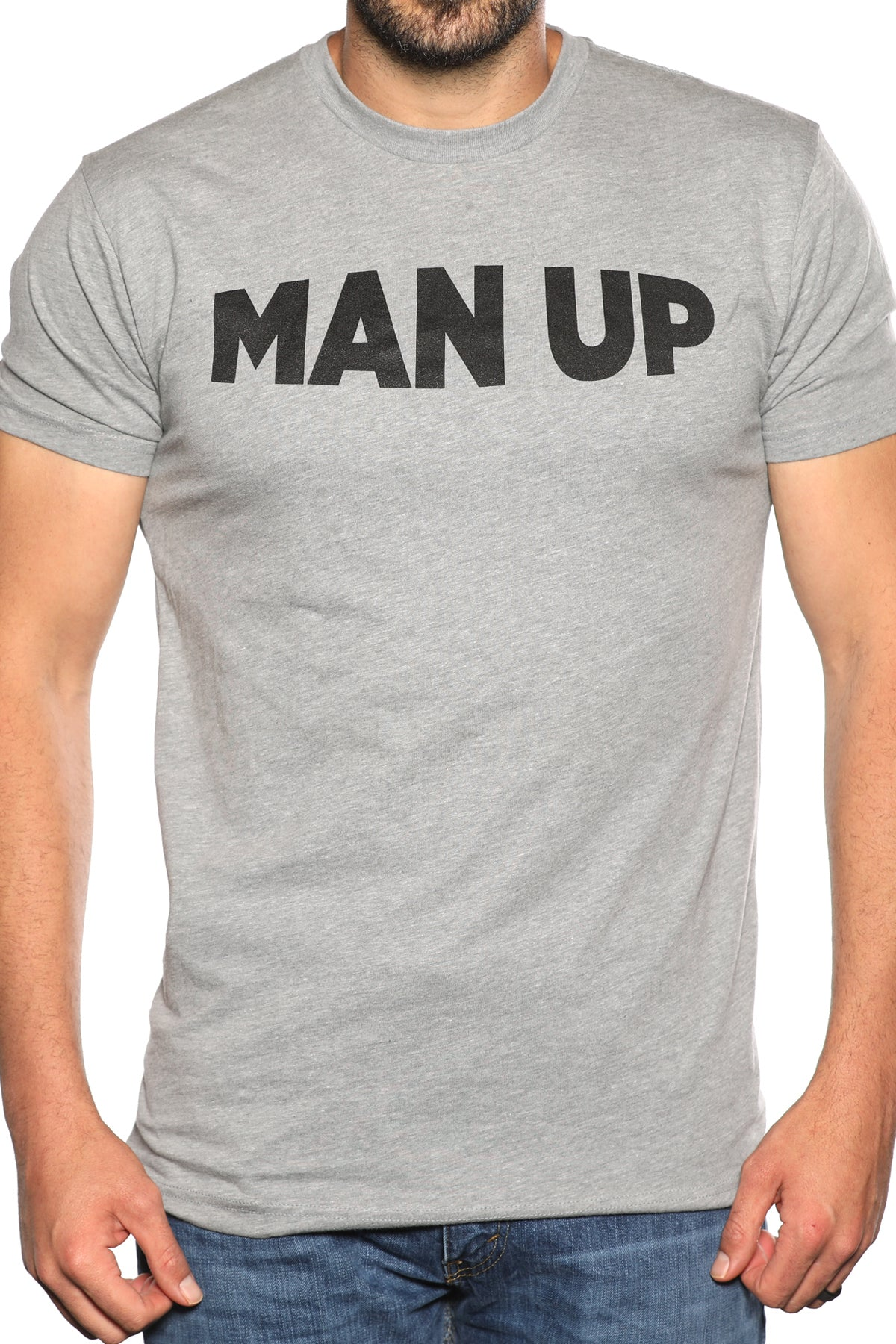 MAN UP Shirt – Grey