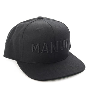 MAN UP Snapback – Black