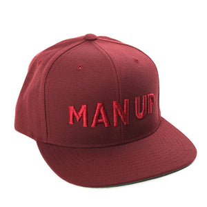 MAN UP Snapback – Maroon