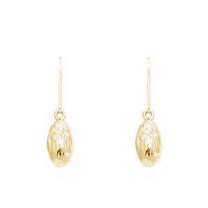 "Load image into Gallery viewer, ""We Are Alm-ighty"" Almond Earrings in Gold- Food for Thought Collection - Pavé the Way® Jewelry"